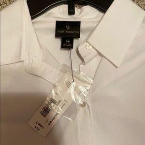 White Button Up! Women's